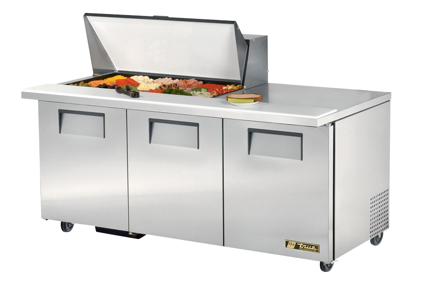 Used Sandwich Prep Table Refrigerated Two (2) True Refrigerated Salad & Sandwich Top Prep Table